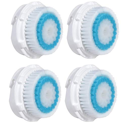 Compatible Replacement Facial Cleansing Brush Heads (4-Pack)