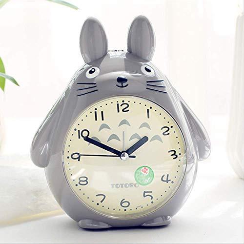 Mi Vecino Totoro Despertador para niños Camera da Letto, Studio Ghibli Hayao Miyazaki Cartoon Pet Elf Luces LED Night Light Clock Miglior Regalo per i Bambini (Grigio)