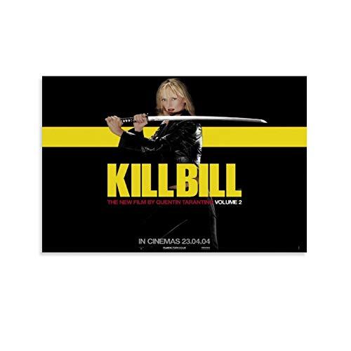 Póster de la película Kill Bill 9 enmarcado en lienzo impreso para decoración del hogar, cuadros colgantes para sala de estar, dormitorio, listo para colgar 60 x 90 cm