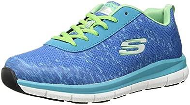 Skechers Women's Comfort Flex Sr Hc Pro Health Care Professional Shoe,light blue/green,8.5 M US