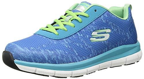 Skechers Women's Comfort Flex Sr Hc Pro Health Care Professional Shoe,light blue/green,7.5 M US