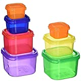 set of 7 color containers for portion control