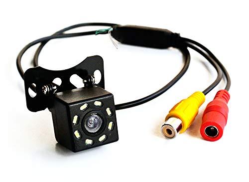 LEXXSON, telecamera anteriore per auto, telecamera di retromarcia HD CCD a 8 LED, visione notturna, telecamera di backup a 170°, DC12V (anteriore o inverso)