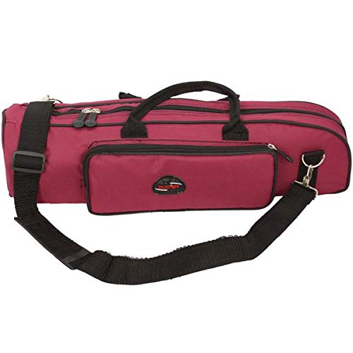 SISHUINIANHUA Easy-to-use Nylon Profi Trompete Tasche Rose Red