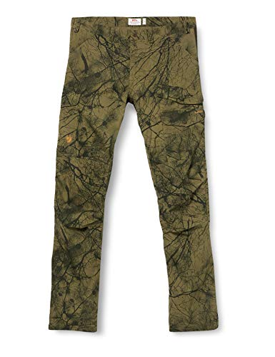 Fjallraven Herren Sport Trousers Barents Pro Hunting Trousers M, Green Camo-Deep Forest, 52, 90222