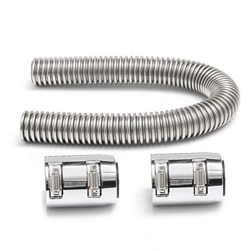 MOMOALA AAlamor 24 inch flexibele roestvrij staal universele bovenste of onderste radiator slang gereedschap kit