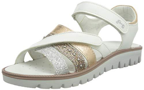 Primigi Damen Pax 73931 Sandal, Bianco/SALMONE, 34 EU