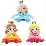 Yzhome 3 Unids 20 Cm Anime Cartoon Super Mario Bros Princess Peach Daisy Rosalina Soft Plush Toy Cut...