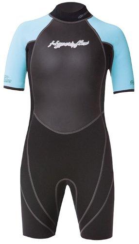 Hyperflex Wetsuits Junior de Acceso 2,5mm Primavera Traje, 405249, Negro y Azul Claro