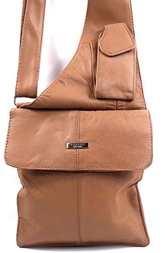 Emporium Leather Cuir Brun Concepteur Porté sur Épaule Main par Lorenz 3765