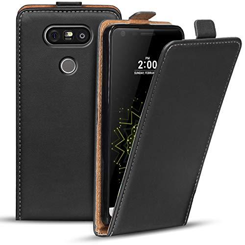 Verco Flip Cover per LG G5, Custodia Verticale Flip Case Compatibile con LG G5, Nero