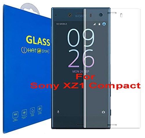 Sony Xperia XZ1 Compact - Curvo 3D Cristal Templado Protector de Pantalla, 3D completo borde curvado [ borde a borde ] para Sony Xperia XZ1 Compact / Sony Xperia XZ1 Compact Dual (Clear)