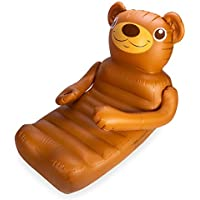 SwimWays Inflatable Lounge with Cupholder for Pool or Lake (Teddy Bear)