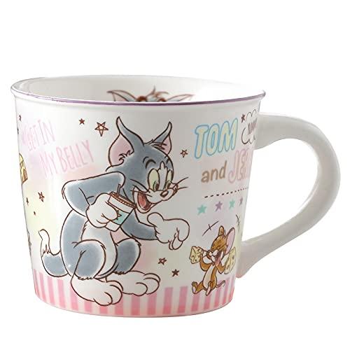 Taza de café con dibujos animados batido de leche de café helado, zumo de agua, botella de plástico con tapa de vaso con pajita (color: D con caja y cuchara)