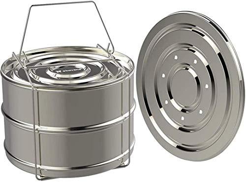XY-M Cocina de Vapor con Cubierta de Vidrio Doble Presión apilable Panalera Freír con Recubrimiento de mármol Seguro de inducción