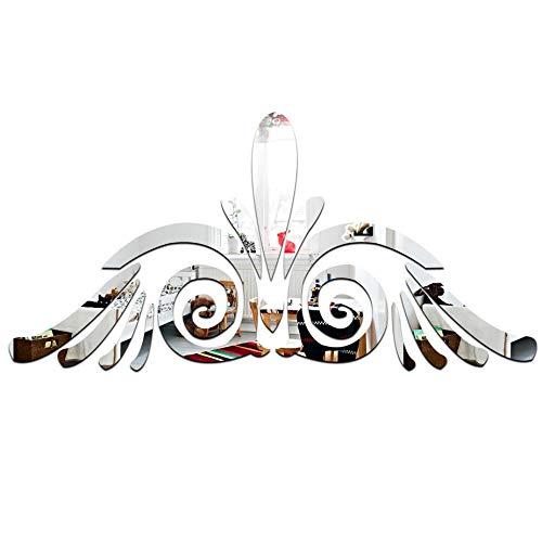 Whinop 14 Piezas de Espejo Decorativo de Pared de Búho de Espejo Salón Decoración de