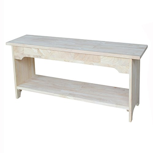 International Concepts BE-36 Brookstone Bench, 36', Unfinished