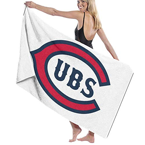 Ch-icago C-ubs Super Absorbent Man Woman Teens Bath Towels Multipurpose for Yoga Bath Hotel Gym Spa