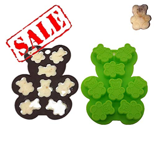 Candy, Sweets, Chocolate Silicone Moulds & Ice Cube Trays, Gummy Bear Moulds For Kids, BIGGER & WIDER, Set of 2, Teddy Bear Fondant/Gum Paste/Cake Decorating/Cupcake Toppers/Sugarcraft/Jelly, Nonstick