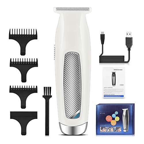 Excra Tondeuse voor mannen, oplaadbare elektrische USB-tondeuse, snoerloze 0mm tondeuse met gat