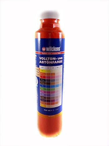 Qualitäts Abtoenfarbe - Volltonfarbe / 750 ml/matt - 14 Farben zur Auswahl (Reinorange)