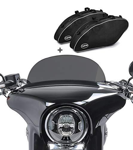 Set Moto Parabrisa M + Bolsas Interiores para Harley Sport Glide 18-21 SL3
