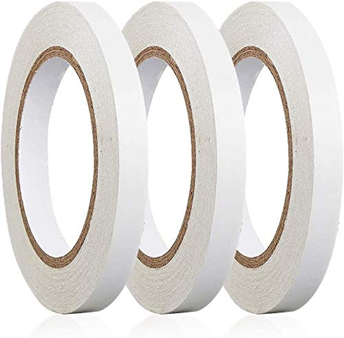 """BYUEE 3 Rolls 0.4"""" x 30 Yards Double Sided Adhesive Sticky Tape for Crafts, Scrapbooking, Photography, Scrapbook Paper, Rubber Stamps, Card Making, Gift Wrapping, DIY, Arts, Office & Home Supplies"""