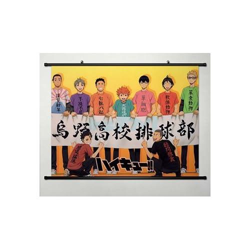 Home Decoration Anime Haikyuu!! Karasuno High School Poster Wall Scroll Cosplay 23.6 x 17.7