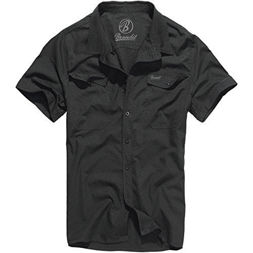 Brandit Herren Roadstar Shirt Hemd, Schwarz, XXL