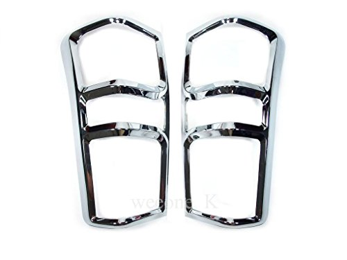 Aftermarket Accessory Chrome Rear Tail Light Taillight Lamp Cover Trim for Isuzu D-max Dmax 2012 2013 2014 2015 V.3