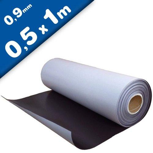 Magnetfolie selbstklebend roh braun 0,9mm x 50cm x 100cm - flexible magnetische Folie, hält auf allen metallischen Oberflächen