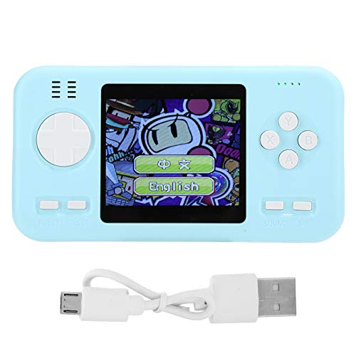 Tragbare Retro Handheld-Spielekonsole Maschine Power Bank 8000mAh Spielmaschine(Blau)