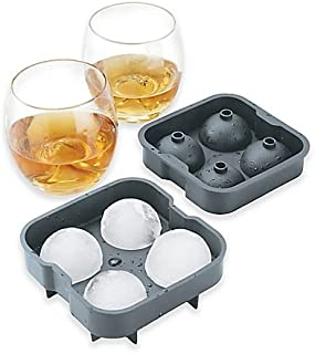 Brookstone 3-Piece Ice Ball Drink Set   Easy Swirling of Ice Balls