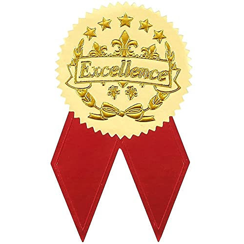 Award Stickers, Gold Certificate Stickers (96 Pieces)