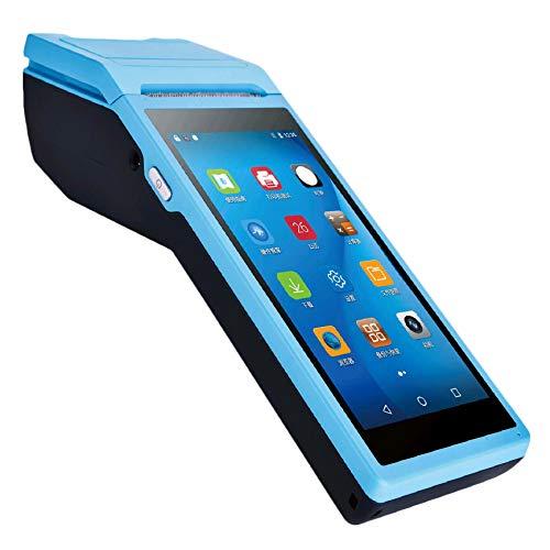 Shumo Computadora de Mano Pos.5,5 Pulgadas Prensa 3G WiFi Android PDA Terminal de Pago MóVil con Impresora TéRmica (Enchufe de la UE)