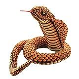 STOBOK - Peluche de Cobra gigante realista serpiente aterrador (110 cm)
