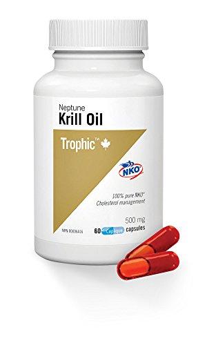 Trophic Aceite de Krill Neptuno 500 mg 60 Cápsulas 60 g