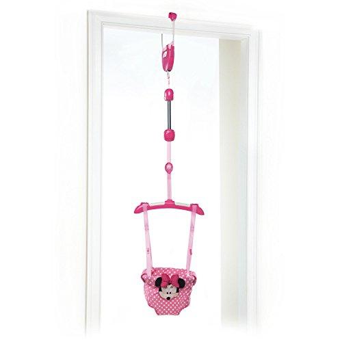 Bright Starts, Disney Baby Saltador de puerta Minnie con altura regulable y juguetes