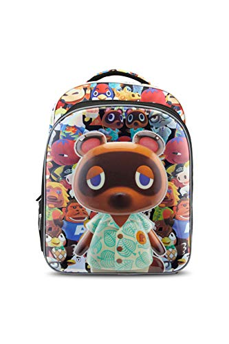 Animal Crossing New Horizons Backpack for Boys & Girls, 16 Inch with Laptop Sleeve
