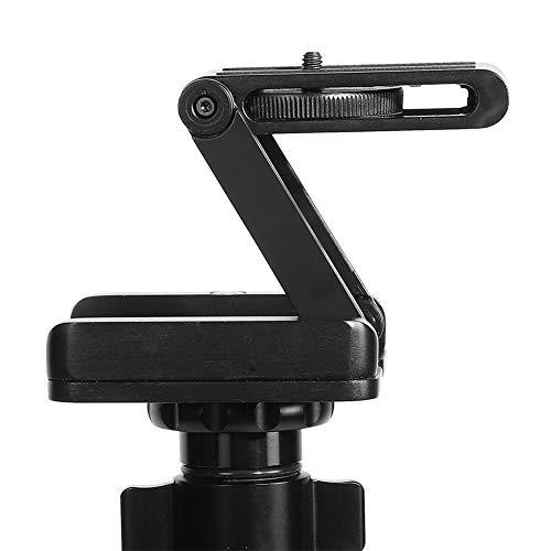 Cosiki Placa de liberación rápida Z Flex, Negro Z Flex Tilt Plegable Placa de liberación rápida Soporte de Montaje para cámara de trípode CO