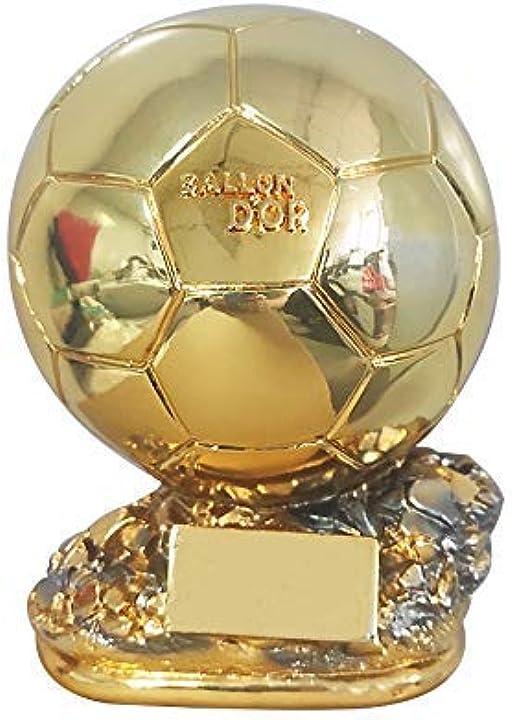 Pallone d`oro replica trofeo francia, miglior giocatore in resina gold ball mrcoin B08RDQZ89N