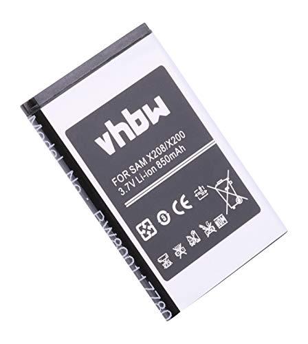 vhbw Li-Ion Akku 850mAh (3.7V) passend für Handy Smartphone Handy Samsung SGH-D720, SGH-D728, SGH-D730, SGH-E210, SGH-E218, SGH-E250, SGH-E250C