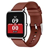 Smart Watch Fitness Tracker Heart Rate Monitor Activity Tracker with 1.3 Inch Touch Screen Step Counter for Women and Men Brown