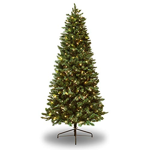 Astella 7' Pre-lit Douglas Fir Hinged Artificial Christmas Tree with 300 Count Clear Incandescent Lights and Stand