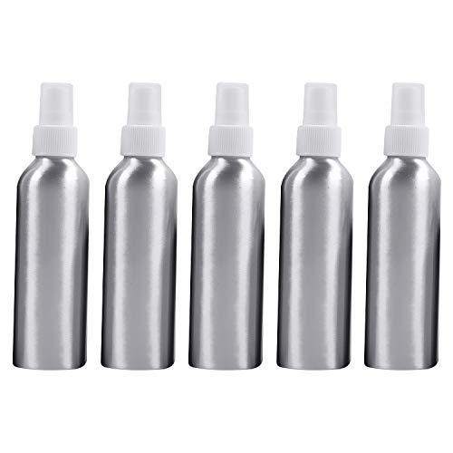 Botella vacía de Viaje cosmético 5 PCS Vidrio recargador Botella de Aluminio, 150 ml (Color : White)