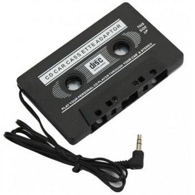 Auto PKW LKW Audio-Kassetten-Adapter mit 3,5mm Klinke für iPod, Tablet, Smartphones MP3 Player usw. / in schwarz