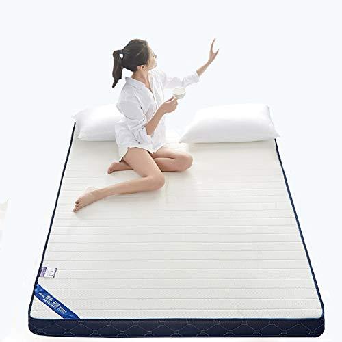 ZLBIN Latex Mattress 10In White, Memory Foam King Size (Fabric: Polyester) All Seasons,200x220cm