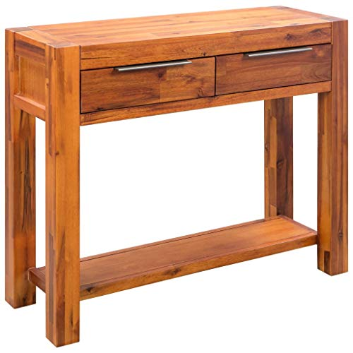 Festnight Konsolentisch | Holz Konsole Ablagetisch | Rustikal Flurtisch | Massivholz Akazie 86 × 30 × 75 cm