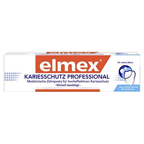 elmex Zahnpasta KARIESSCHUTZ PROFESSIONAL, 1 x 75 ml - Zahncreme für hocheffektiven Kariesschutz