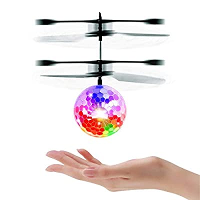 Mini RC Flying Magic Fun Illuminated Ball - RC Infrared Induction USB Helicopter Ball with Built-in Shinning LED Lighting for Kids, Teenagers. from LilPals